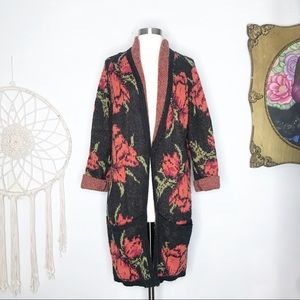 RARE Free People Rose Flower Power Cardigan